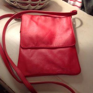 New-leather crossbody purse